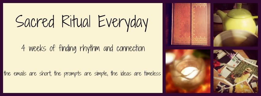 Sacred Ritual Everyday page header
